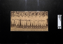 Rarely Seen 1912 Riker & Hegeman Boston Red Sox Postcard (World Champions) w. Tris Speaker, Harry Hooper, Joe Wood SGC 2 (Only 2 Ever Graded!)