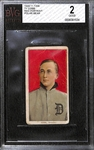 1909-11 T206 Ty Cobb Red Portrait Polar Bear Back Graded BVG 2